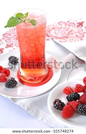Berries drink - stock photo