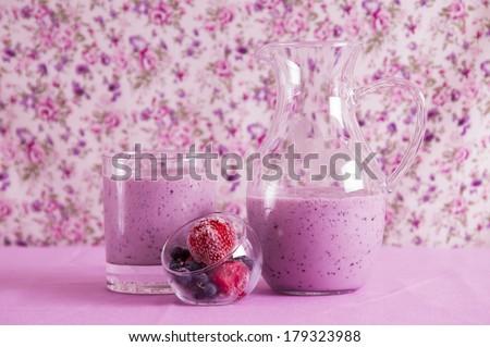Berries smoothie - stock photo