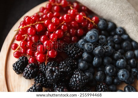 berryes on a desk - stock photo