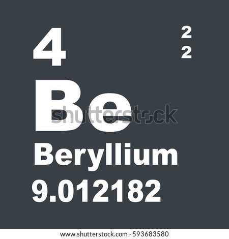 Beryllium periodic table elements stock illustration 593683580 beryllium periodic table of elements urtaz Image collections