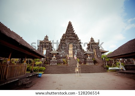 Besakih complex  Pura Penataran Agung , Largest hindu temple of Bali, Indonesia - stock photo