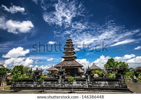 Besakih Temple  in eastern Bali  indonesia - stock photo