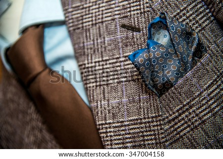 Bespoke suit, tailoring tradition - stock photo