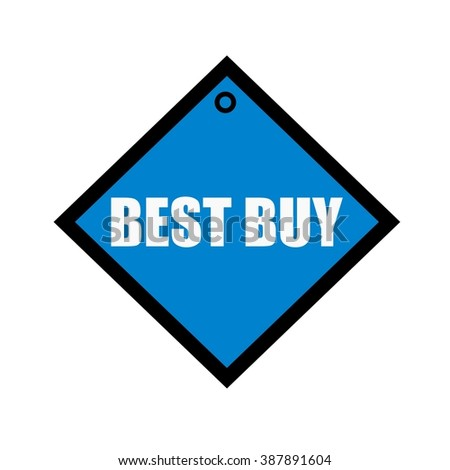 best buy white wording on quadrate blue background