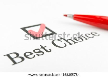 best choice check box - stock photo