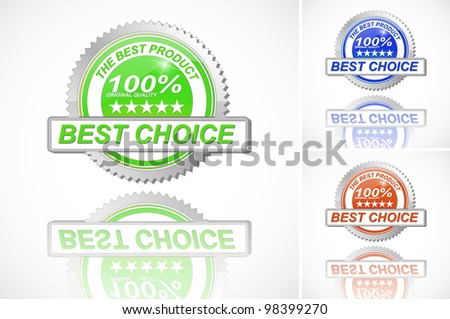 Best Choice Color Label set on White Background - vector version in portfolio - stock photo
