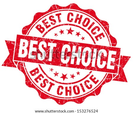 Best Choice Grunge Red Stamp - stock photo