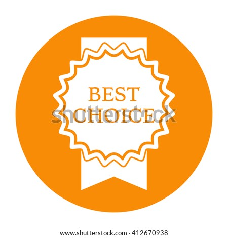 Best choice icon. Medal on ribbon. - stock photo