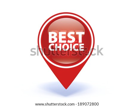 Best choice pointer icon on white background