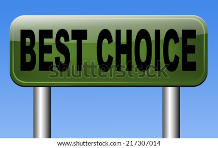 best choice top quality label best  best product comparison  with text and word concept