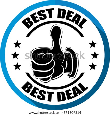 Best deal blue, Button, label and sign. - stock photo