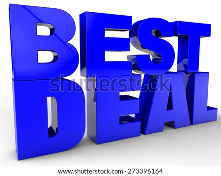 Best Deal over white Background - stock photo