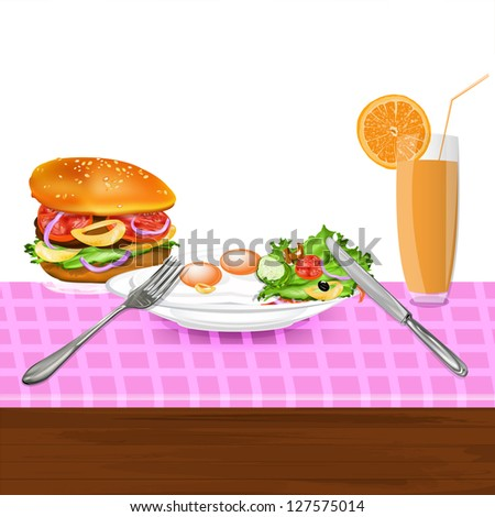 Best food for gourmet.Fast food - stock photo