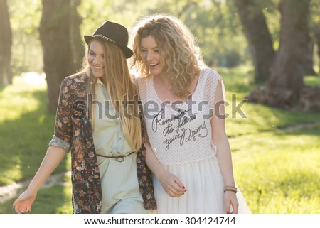 Best friends? She's more like a sister to me. - stock photo