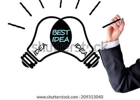 Best idea concept or brainstorming - stock photo