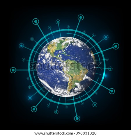 Best internet concept of global business. Elements of this image are furnished by NASA - stock photo