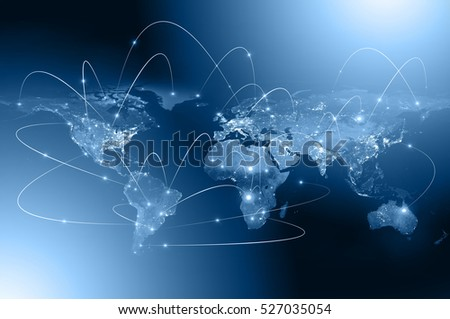 Best Internet Concept of global business from concepts series, connection symbols communication lines. Elements of this image furnished by NASA