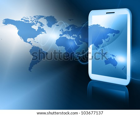 Best Internet Concept of global business from concepts series. Touch pad or Tablet PC