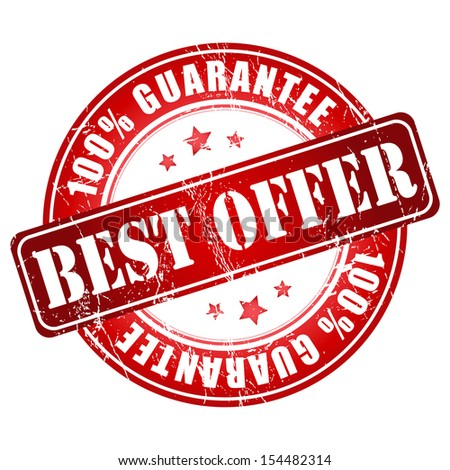 Best offer guarantee stamp. - stock photo