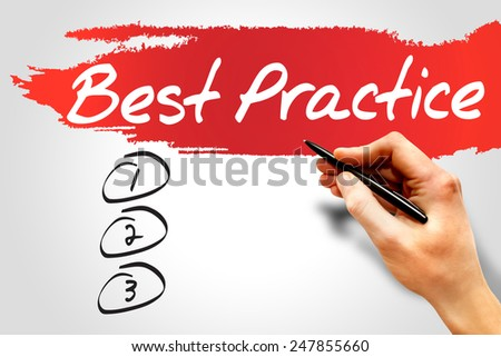 Best Practice blank list, business concept - stock photo