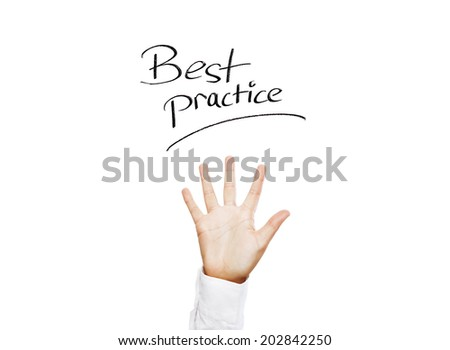 Best practice! Human hand with spread fingers