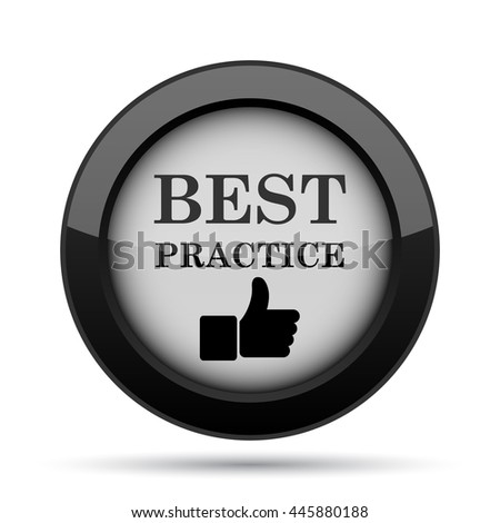 Best practice icon. Internet button on white background.