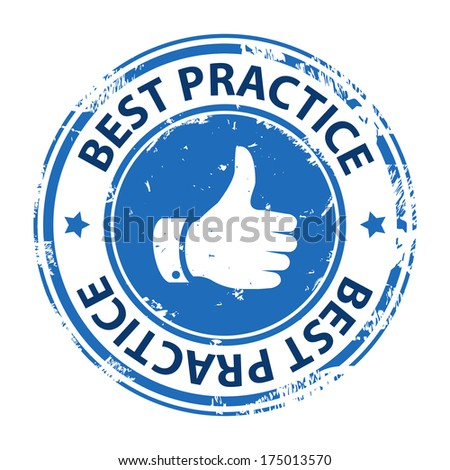 Best practice rubber stamp icon isolated on white background. Illustration - stock photo