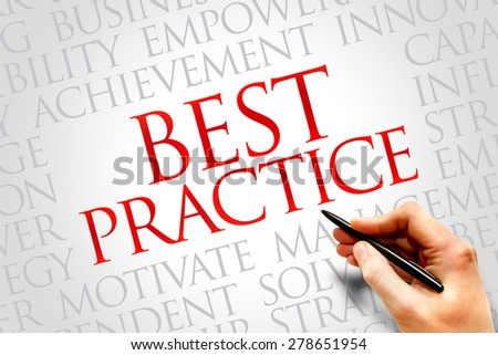 Best Practice word cloud, business concept - stock photo