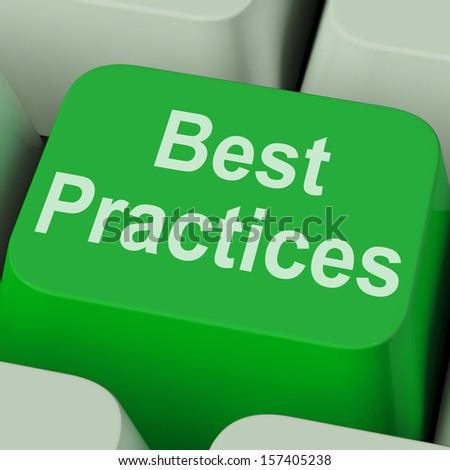 Best Practices Key Showing Improving Business Quality - stock photo