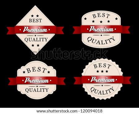 Best, premium quality badges. - stock photo