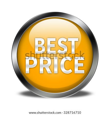 best price button isolated - stock photo