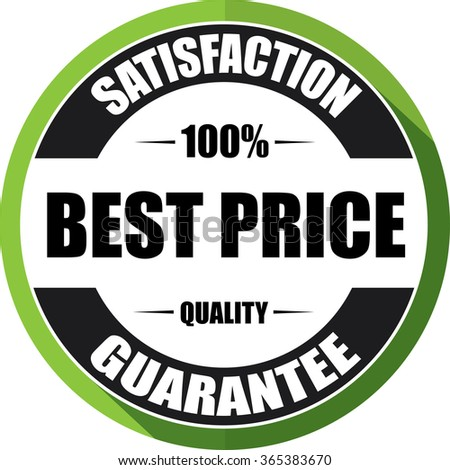 Best price guarantee green, Button,label and sign.