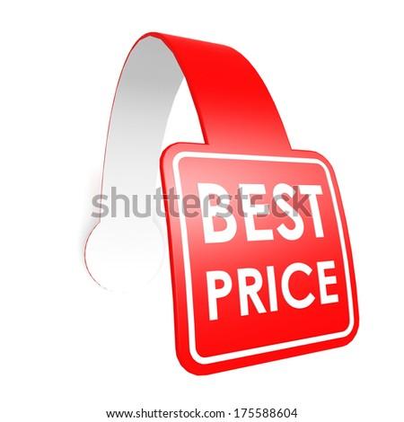 Best price hang label - stock photo