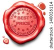 best price product promotion sales or bargain lowest prices best offer and reduction customer service web shop warranty on online internet order at webshop red label icon sign or stamp - stock photo
