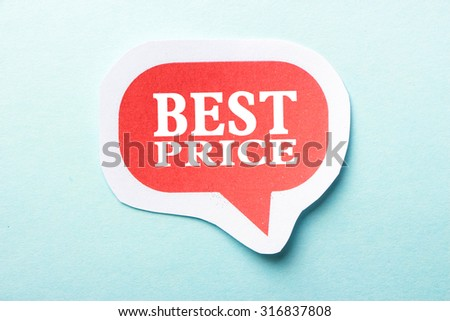Best Price speech bubble is isolated on the blue background. - stock photo