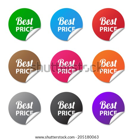 Best price stickers. Vector available.