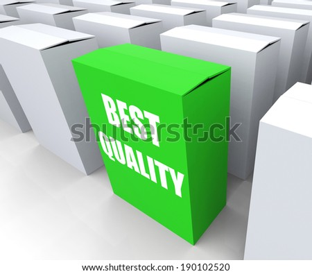 Best Quality Box Representing Premium Excellence and Superiority - stock photo