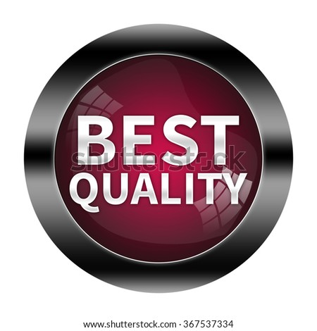 Best quality button isolated