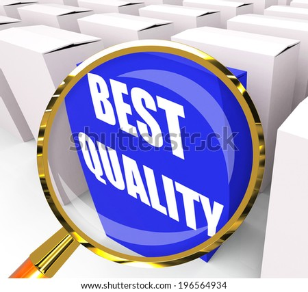 Best Quality Packet Representing Premium Excellence and Superiority - stock photo