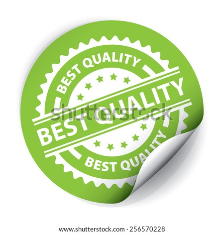 Best Quality Sticker and Tag - Green