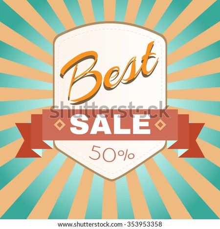 Best Sale Percentage Discount Flyer Raster Illustration. Percentage Discount. Holiday Hot Vacation Card. Market Shop Goods Sale Banner. - stock photo