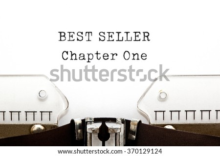 Best Seller Chapter One printed on retro typewriter. Bestseller concept.