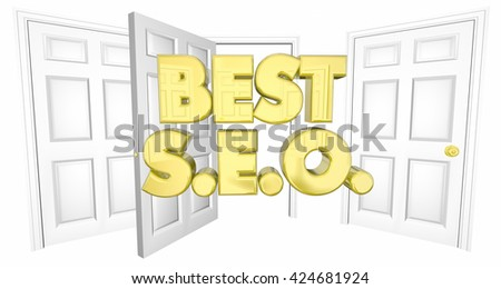 Best SEO Choice Open Door Words 3d Illustration - stock photo