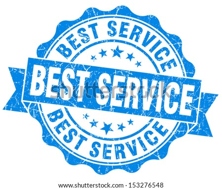 Best Service Grunge Blue Stamp - stock photo