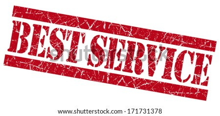 Best service grunge red stamp - stock photo
