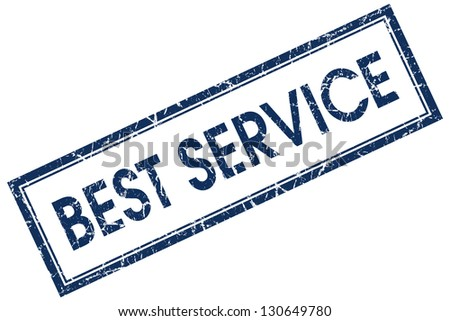 best service stamp - stock photo