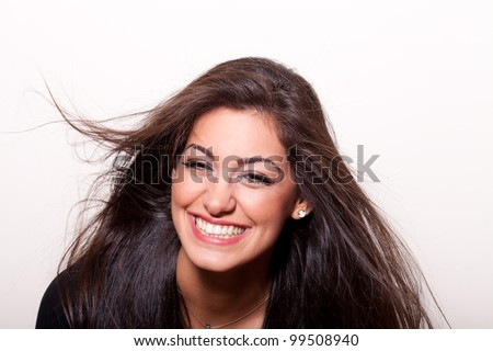 Best smile is a real smile... Portrait of a young confident woman... - stock photo
