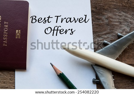 Best Travel Offers sign - stock photo