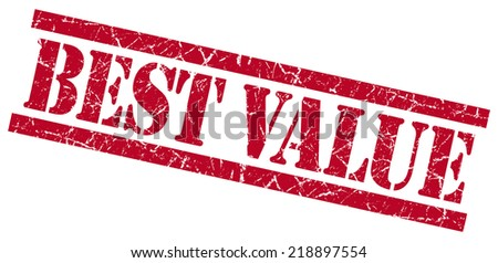 best value red square grungy isolated rubber stamp - stock photo