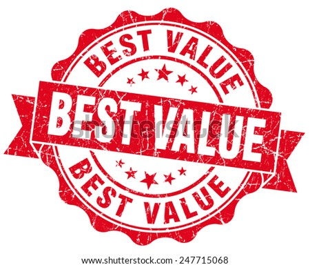 best value red vintage isolated seal - stock photo